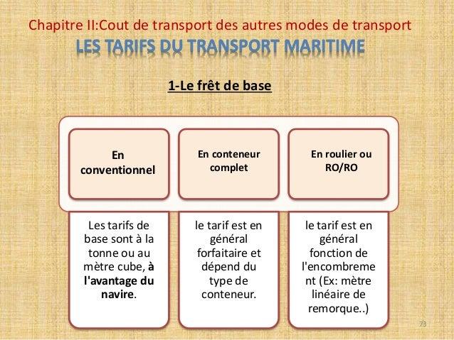 Cout de transport ihssane yachaoui bari for Tarif conteneur maritime