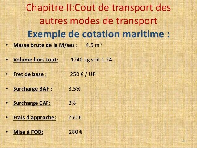 Cout de transport ihssane yachaoui bari - Comment calculer m3 ...