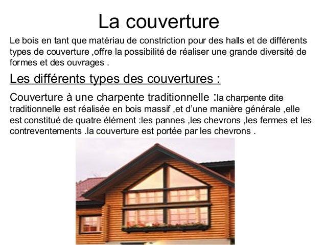 La couverture Le bois en tant que matériau de constriction pour des halls et de différents types de couverture ,offre la p...