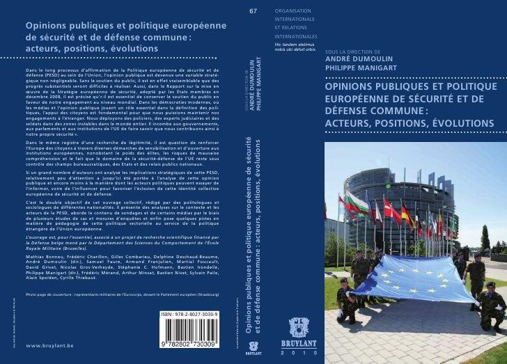 Opinions publiques et politique de sécurité et de défense commune : acteurs, positions, évolutions