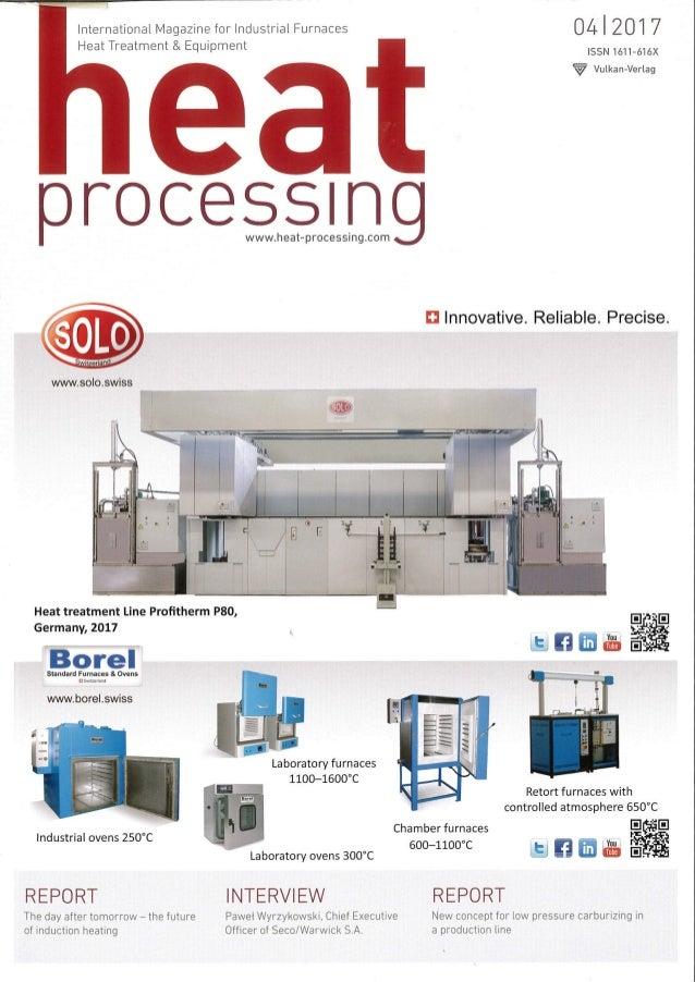 HEAT PROCESSING (International Magazine for Industrial Furnaces Heat Treatment & Equipment), Edition 04/2017