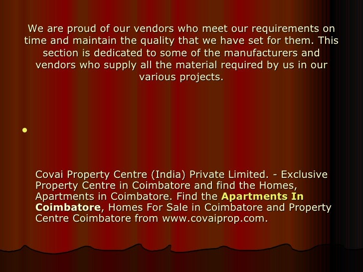 Homes For Sale Coimbatore, Property Centre Coimbatore ...