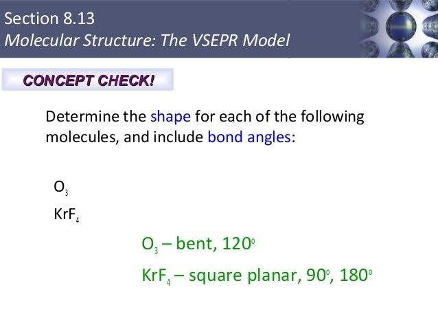 O3 Bond Angle: Bonding: General Concepts