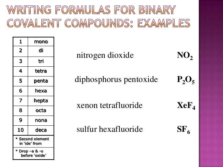 Covalent Bonds Ch 9 2