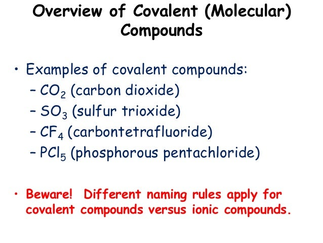 how to write covalent compounds