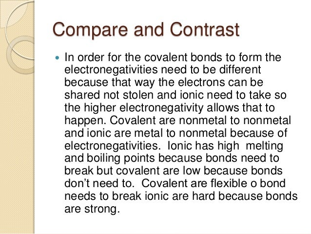 covalent vs  ionic bonding