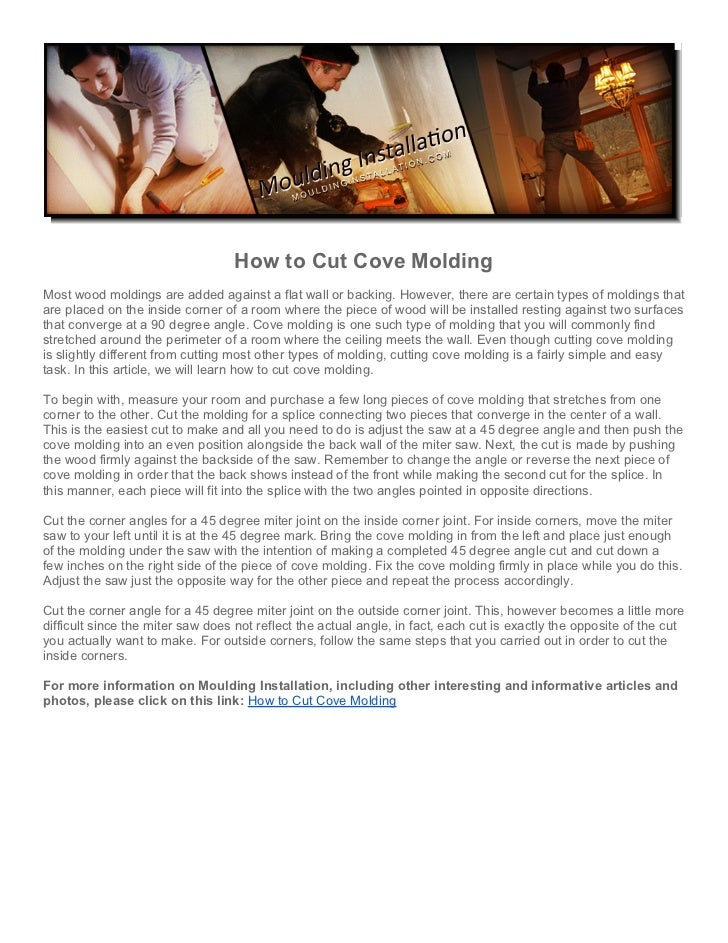 How To Cut Cove Molding