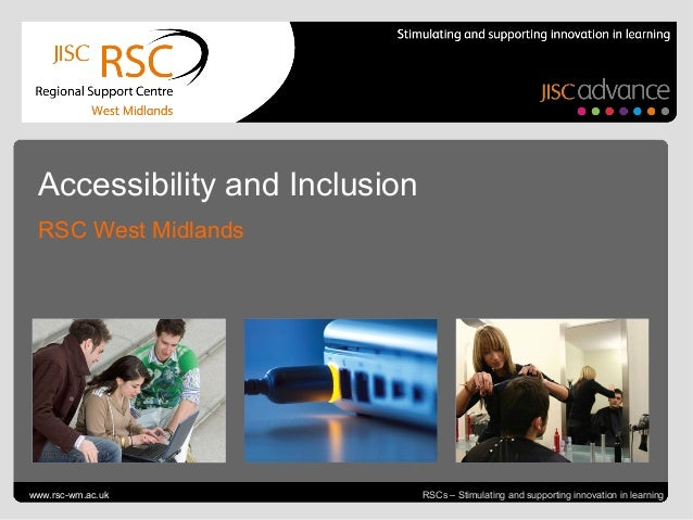 Accessibility and Inclusion  RSC West MidlandsGo to View > Header & Footer to editwww.rsc-wm.ac.uk                        ...