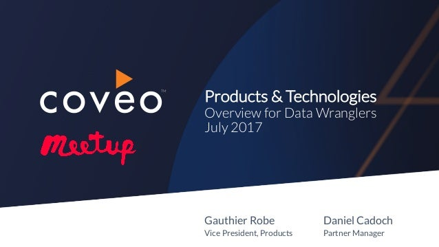 Coveo - Data Wranglers DC Meetup - 18 July 2017