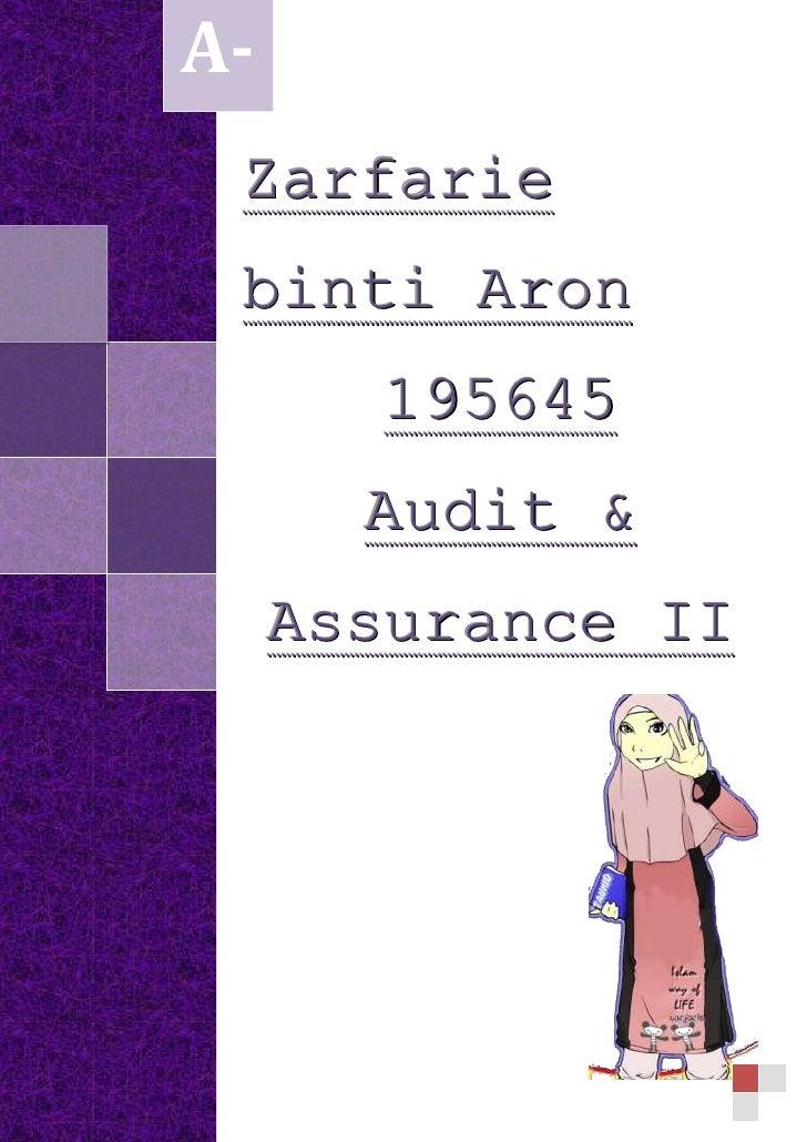 Zarfarie binti Aron195645Audit & Assurance IIA-<br />