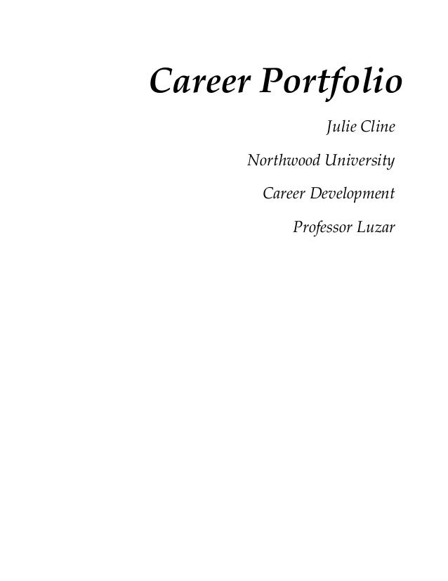 cover page career portfolio julie cline northwood university career