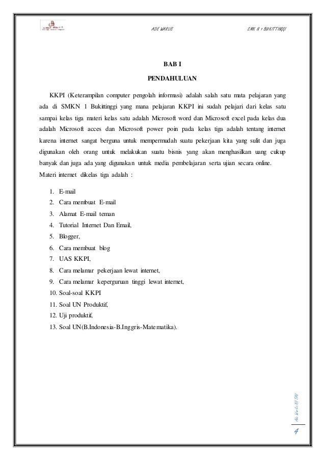 Cover Laporan Beserta Dengan Kata Pengantar Daftar Isi Pendahuluan
