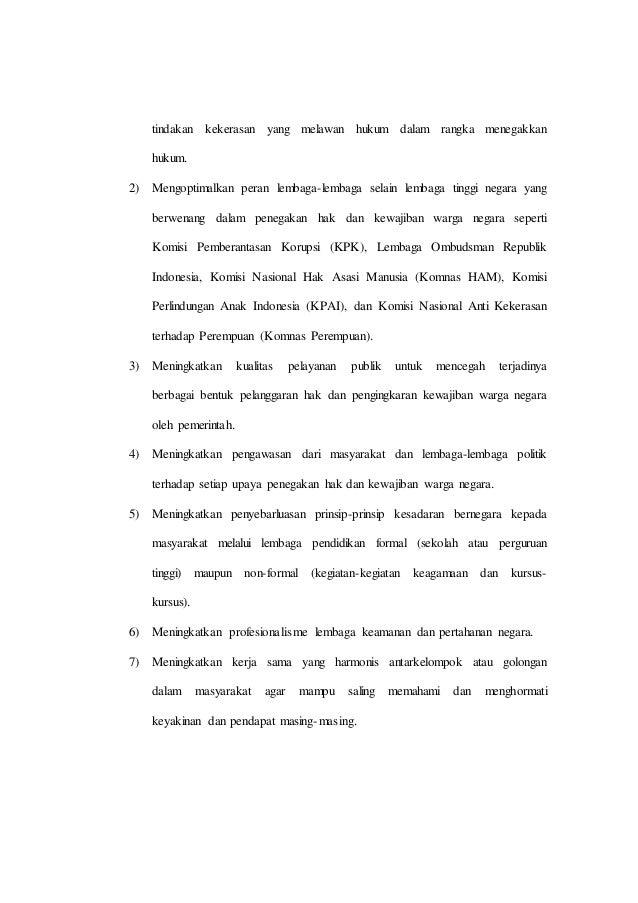 Makalah Ppkn Kasus Kasus Pelanggaran Hak Dan Pengingkaran Kewajiban W