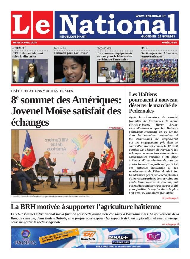 La BRH motivée à supporter l'agriculture haïtienne Le VIIIe sommet international sur la finance pour cette année a été con...