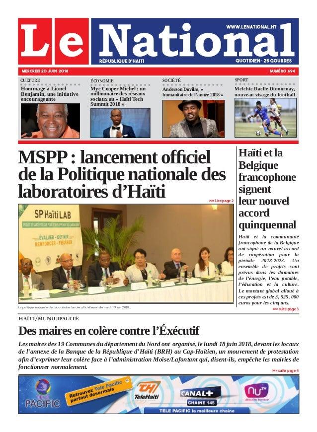 Haïti et la Belgique francophone signent leur nouvel accord quinquennal Haïti et la communauté francophone de la Belgique ...