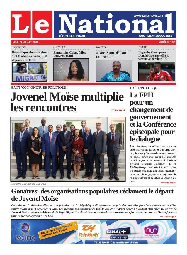 Gonaïves: des organisations populaires réclament le départ de Jovenel Moïse Considérant la dernière décision du président ...