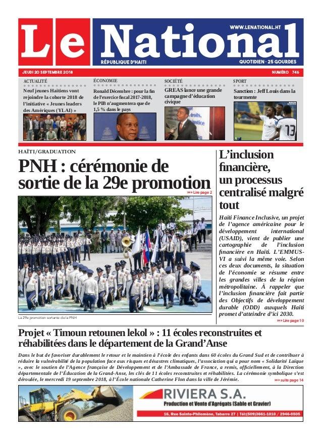 Projet « Timoun retounen lekol » : 11 écoles reconstruites et réhabilitées dans le département de la Grand'Anse Dans le bu...
