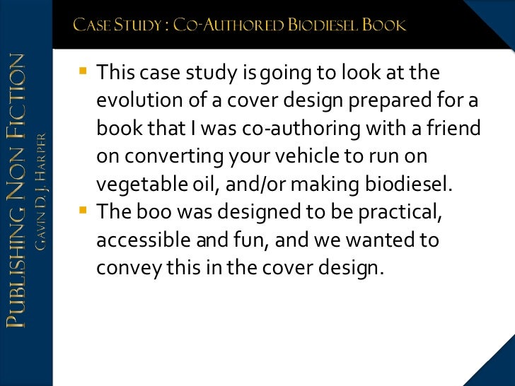 <ul><li>This case study is going to look at the evolution of a cover design prepared for a book that I was co-authoring wi...