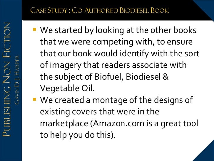 <ul><li>We started by looking at the other books that we were competing with, to ensure that our book would identify with ...