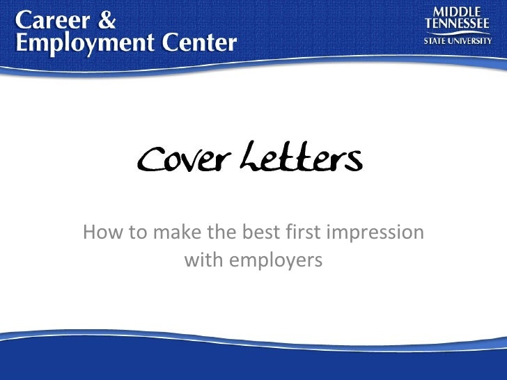How to make the best first impression with employers