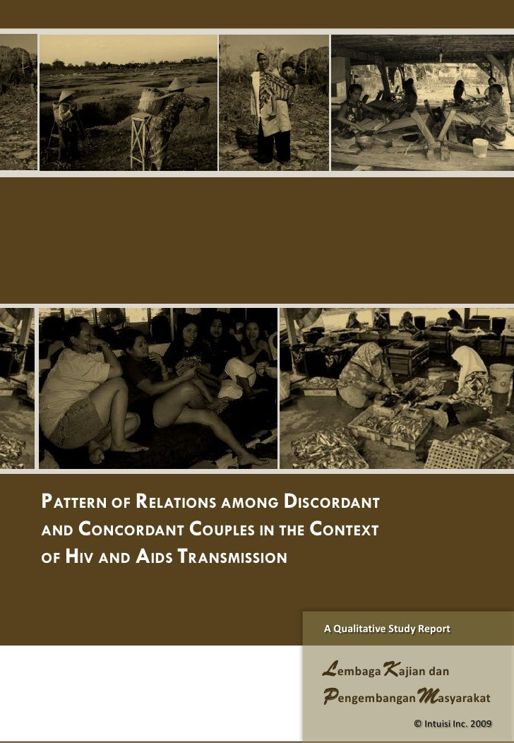 PATTERN OF RELATIONS AMONG DISCORDANT AND CONCORDANT COUPLES IN THE CONTEXT OF HIV AND AIDS TRANSMISSION                  ...