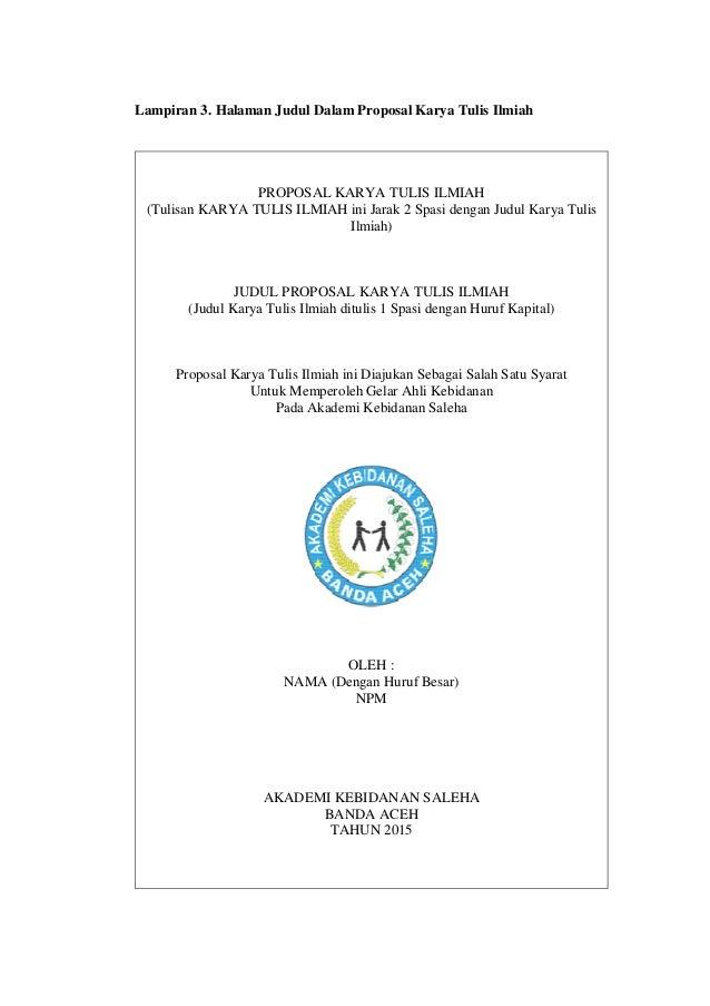 Buku Panduan Karya Tulis Ilmiah Akademi Kebidanan Saleha Banda Aceh T
