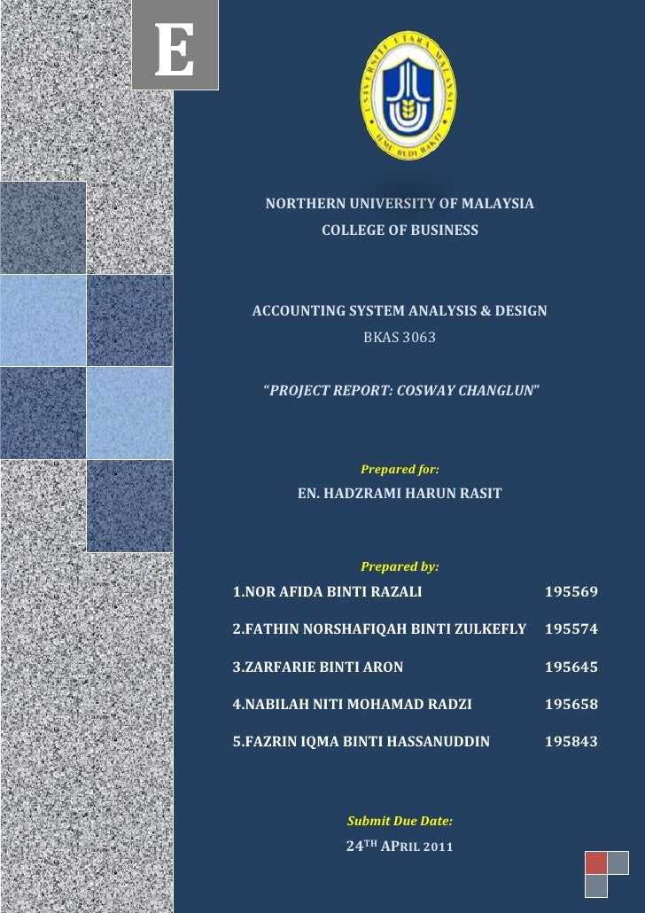"<ul><li>3777814-81348NORTHERN UNIVERSITY OF MALAYSIA COLLEGE OF BUSINESSACCOUNTING SYSTEM ANALYSIS & DESIGN BKAS 3063 ""PRO..."