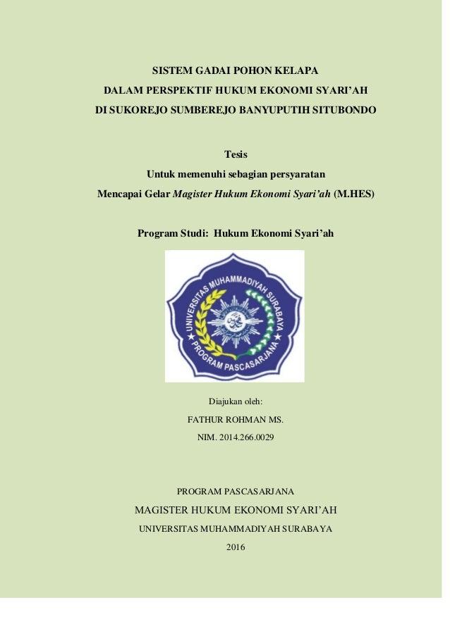 Contoh Tesis Hukum Ekonomi Syariah Contoh Soal Dan Materi Pelajaran 2