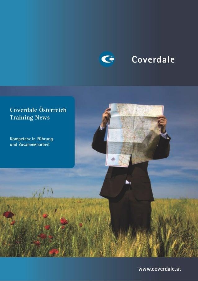 Coverdale ÖsterreichTraining NewsKompetenz in Führungund Zusammenarbeit                       www.coverdale.at