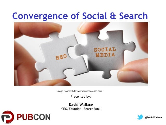 Convergence of Social & Search  Image Source: http://www.bluesqaretips.com  Presented by:  David Wallace CEO/Founder - Sea...