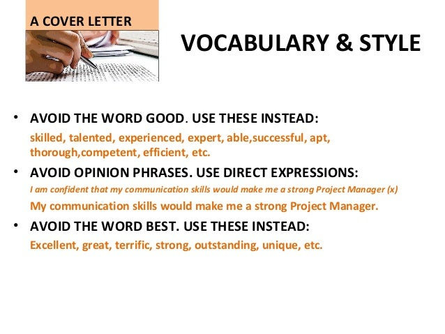 Online Writing Lab , esl cover letter vocabulary