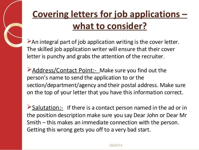 what to put in job application