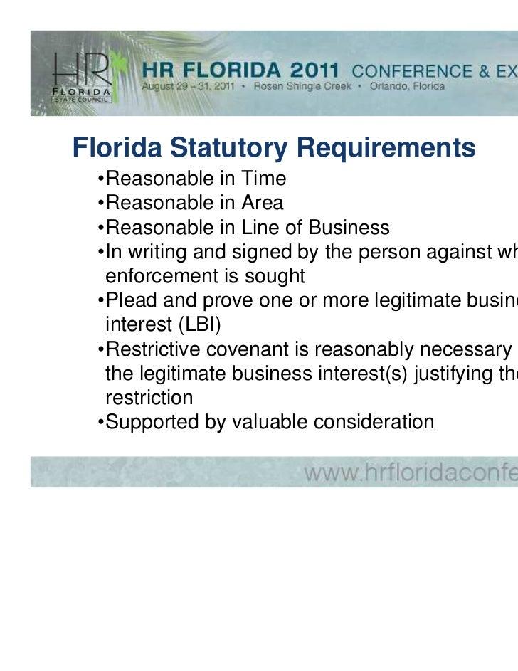 Restrictive covenants essay