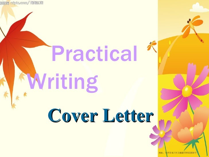 Practical  Writing   Cover Letter