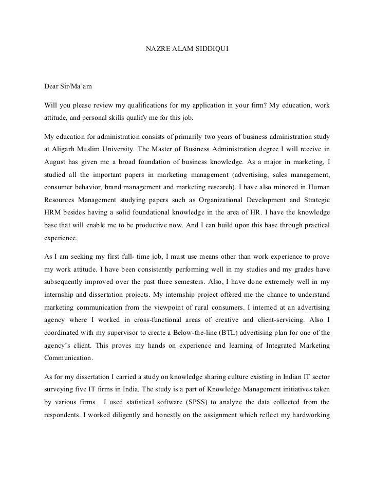 undergraduate human resources cover letter – Human Resource Cover Letter