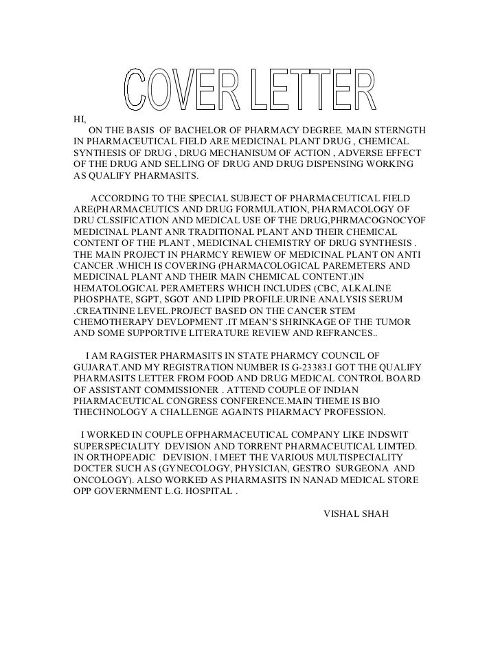 cover letter for pharma company Study our pharmaceutical product manager cover letter samples to learn the best way to write your own powerful cover letter.