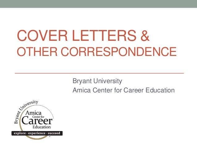 Bryant University - Cover Letter