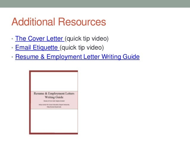 15 additional resources the cover letter quick tip video