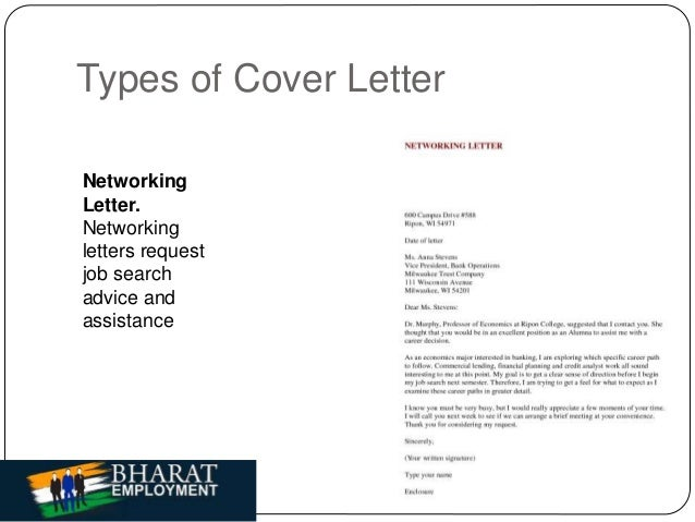 8 types of cover letter networking - Cover Letter Networking
