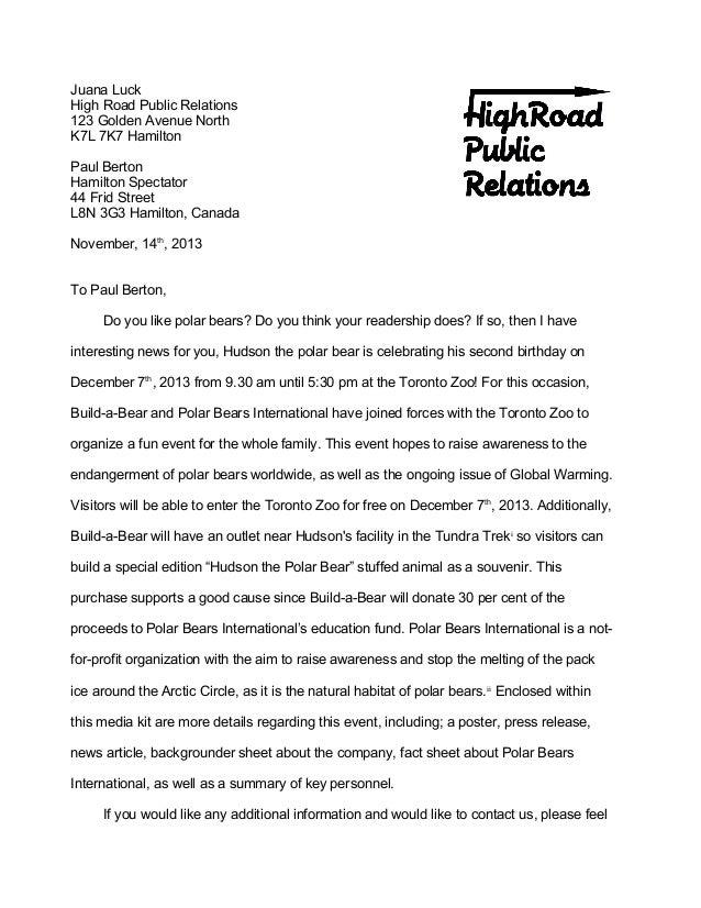 cover letter juana luck high road public relations 123 golden avenue north k7l 7k7 hamilton paul berton hamilton - Build A Cover Letter