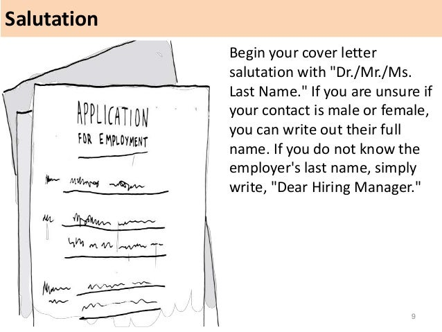 salutation 9 begin your cover letter - Cover Letter Salutation