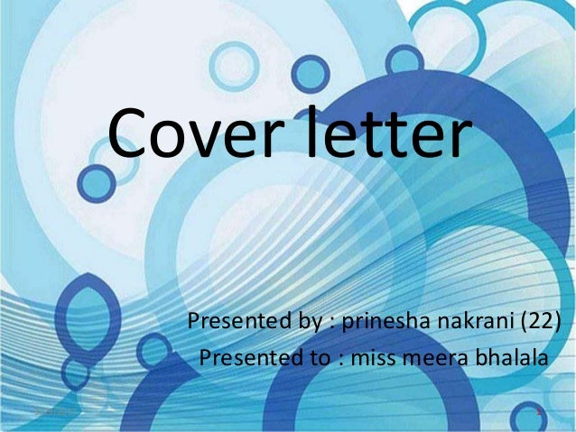 cover letter ppt