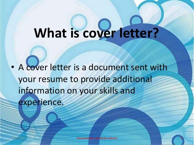 Cover letter ppt.
