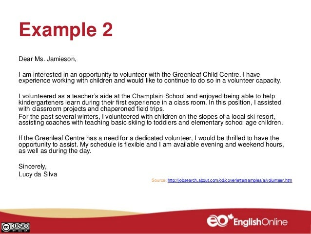 mwc cover letter how and why clb 5 7