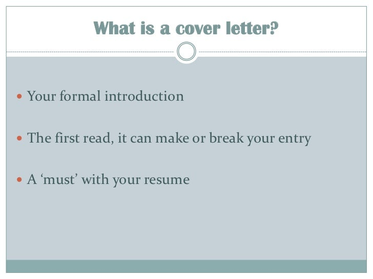 comments to the recruiter or cover letter - cover letter your first impression on recruiter