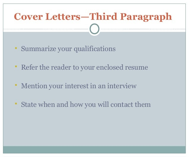 cover letter 101