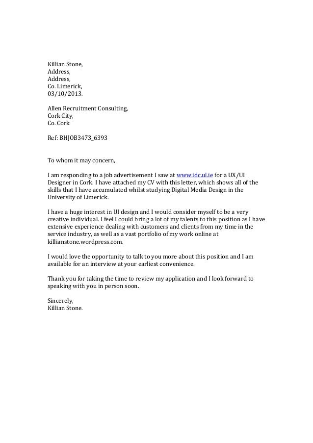 Killian  Stone,   Address,   Address,   Co.  Limerick,   03/10/2013.      Allen  Recruitment...