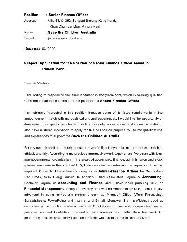 Position : Senior Finance OfficerAddress : Villa 51, St 352, Sangkat Boeung  Keng Kand ...