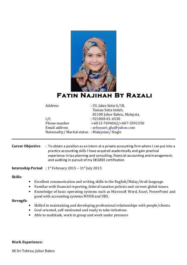 Contoh Lengkap Resume Bahasa Melayu