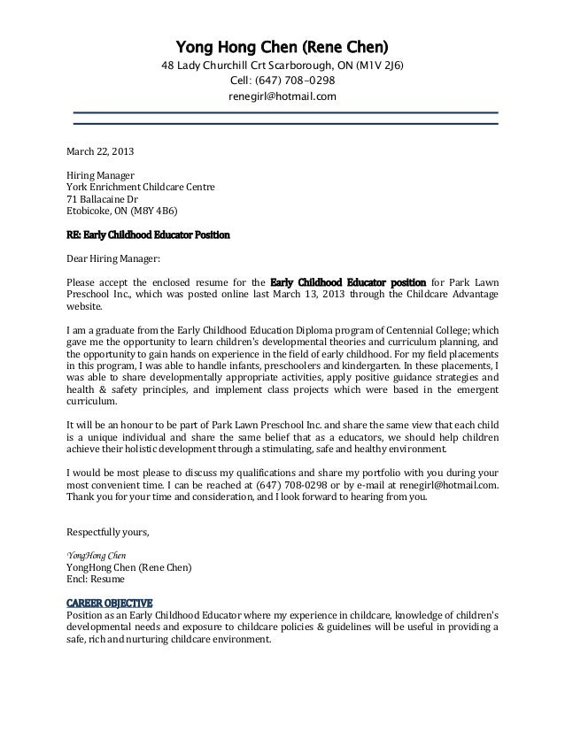 Cover letter and resume rene for Explore learning cover letter